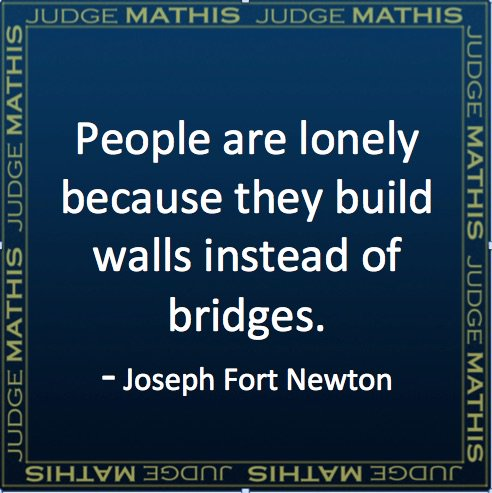 walls not bridges
